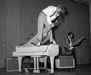 Jerry Lee Lewis standing