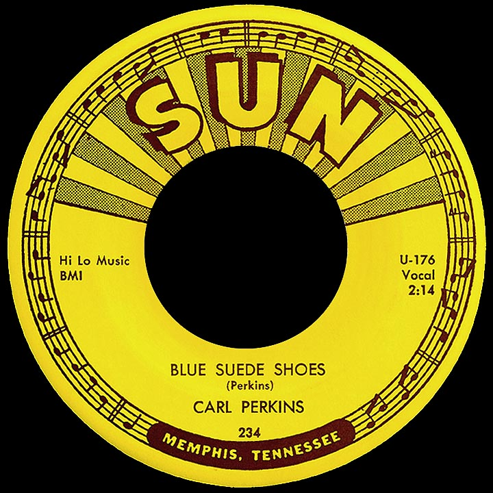 Blue Suede Shoes Carl Perkins Style