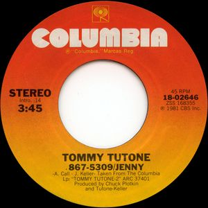 tommy tutone jenny single
